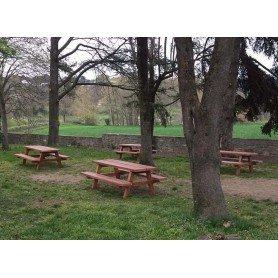 Mesa de picnic Precal Imitación madera