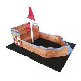 Arenero madera barco