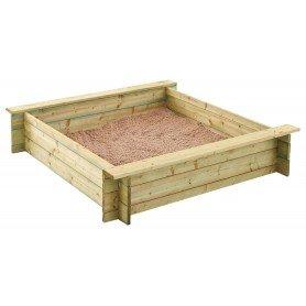 Arenero de madera 120 x 120 x 25 cm