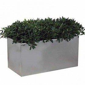 Jardinera de acero inoxidable rectangular