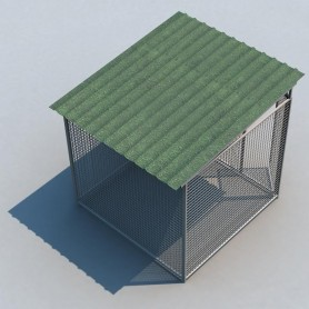 Boxican de malla 200x200 con tejado
