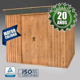 Caseta imitación madera Pent roof