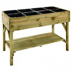 Mesa de cultivo de madera rectangular GARIGUETTE