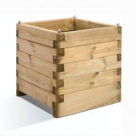 Jardinera de madera rectangular Olea