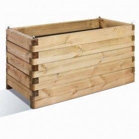 Jardinera de madera rectangular Olea 100