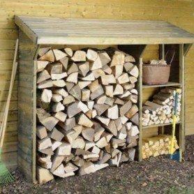 Leñero de madera Split