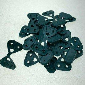 Pinzas de fijación verde 20 ud