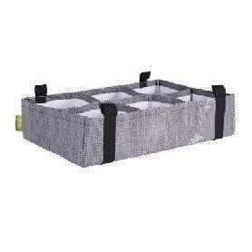 Huerto urbano ZiggZagg gris rectangular 60x40x15