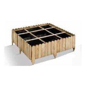 Huerto cuadrado de madera 9 cubos PATISSON 90