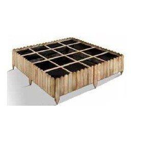 Huerto cuadrado de madera 16 cubos PATISSON 120