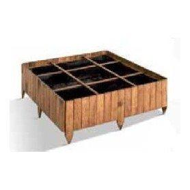 Huerto cuadrado de madera 9 cubos POTIMARRON 90