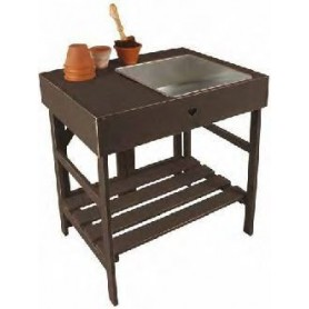 Mesa para planta gris