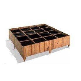 Huerto cuadrado de madera 16 cubos POTIMARRON 120