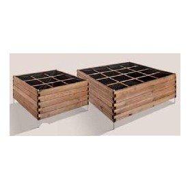 Huerto cuadrado de madera 9 cubos ESTRAGON 90