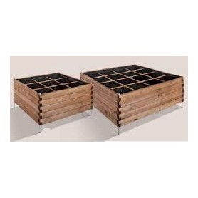Huerto cuadrado de madera 16 cubos ESTRAGON 120