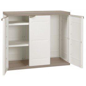 Medio armario 105 cm 3 puertas titanium beige