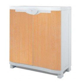 Medio armario 70 cm estantes metalicos
