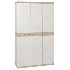Armario 105 cm 3 puertas titanium beig