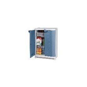 Armario medio-armario metalico azul 90 cms