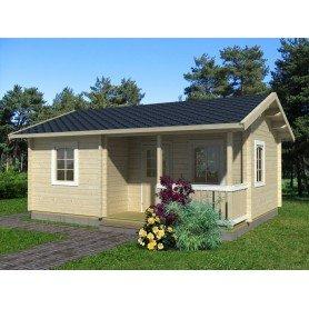 Casa de madera Sandra 21,5 + 3,7 m2