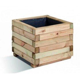 Jardinera de madera cuadrada Stockholm 40