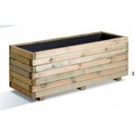 Jardinera de madera rectangular First 120