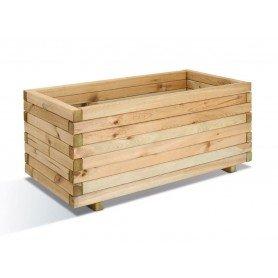 Jardinera de madera rectangular Stockholm 80