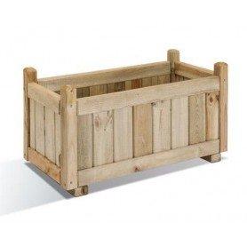 Jardinera de madera rectangular Vendome 80