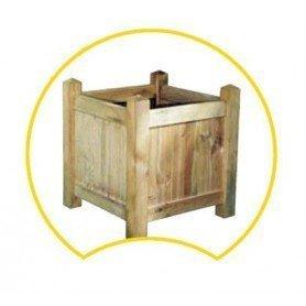 Jardinera de madera cuadrada montable