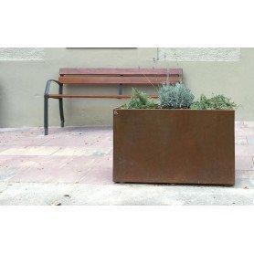 Jardinera de acero corten 100x40x60h