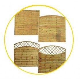 Panel de madera recto