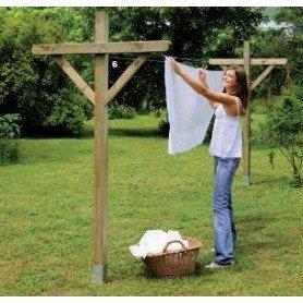 Tendedor de ropa de madera para jardin Optima