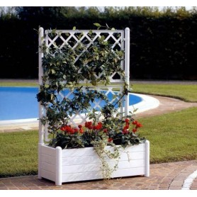 Jardinera rectangular con espaldera