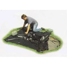 Lamina Hobbyfol de PVC negro 8x20x0.01 m
