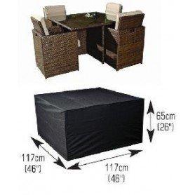M645 Funda conjunto mesa cuadrada+4 silla mediano