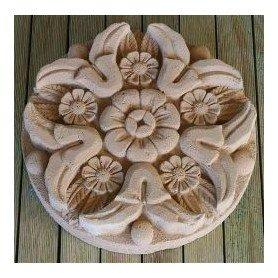 Roseton en piedra artesanal