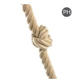 Cuerda de escalada con nudos