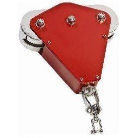 Tirolina color rojo comercial