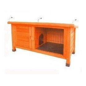 Caseta de madera para conejos baja