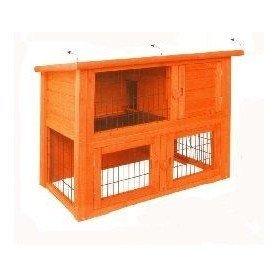 Caseta de madera para conejos duplex