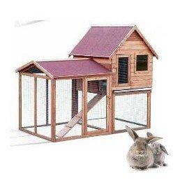 Caseta conejos madera Duplex