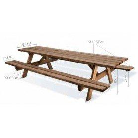 Mesa de picnic de madera Garden 300