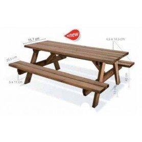 Mesa de picnic de madera Garden 200