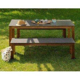 Set Nelio mesa + bancos 209cm