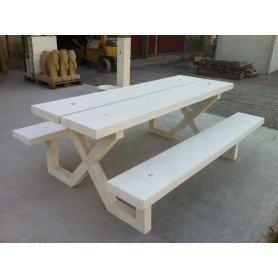 Set Nelio mesa + bancos 170cm