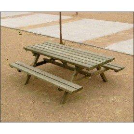 Mesa picnic madera tratada