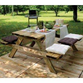Mesa picnic madera Robuste