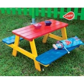Mesa picnic infantil Fourmi
