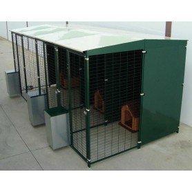 Jaula 3 perros 4x2 metros