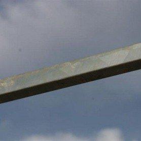 Tubo metálico cuadrado para soporte de tejado para boxes ml
